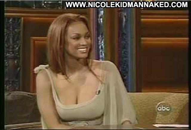 Tyra Banks Jimmy Kimmel Live Legs Female Hd Beautiful Sexy Babe Nude