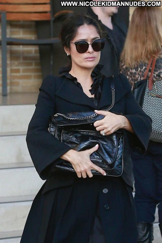 Salma Hayek New York Paparazzi Celebrity Shopping Beautiful Bar