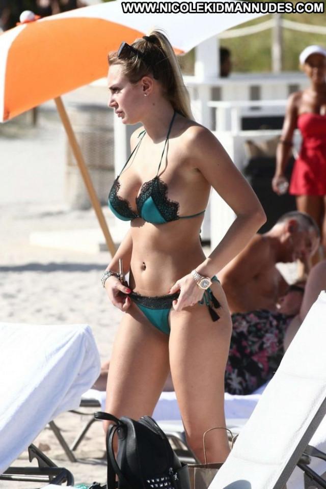 Francesca Brambilla Miami Beach Bra Posing Hot Paparazzi Celebrity