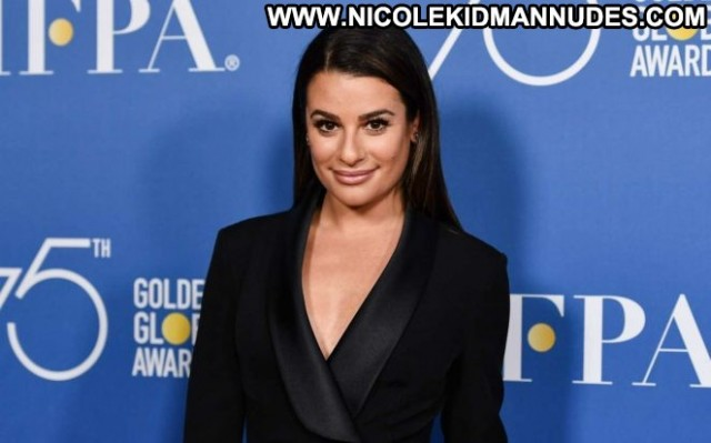 Lea Michele Hollywood Foreign Press Posing Hot Beautiful Babe