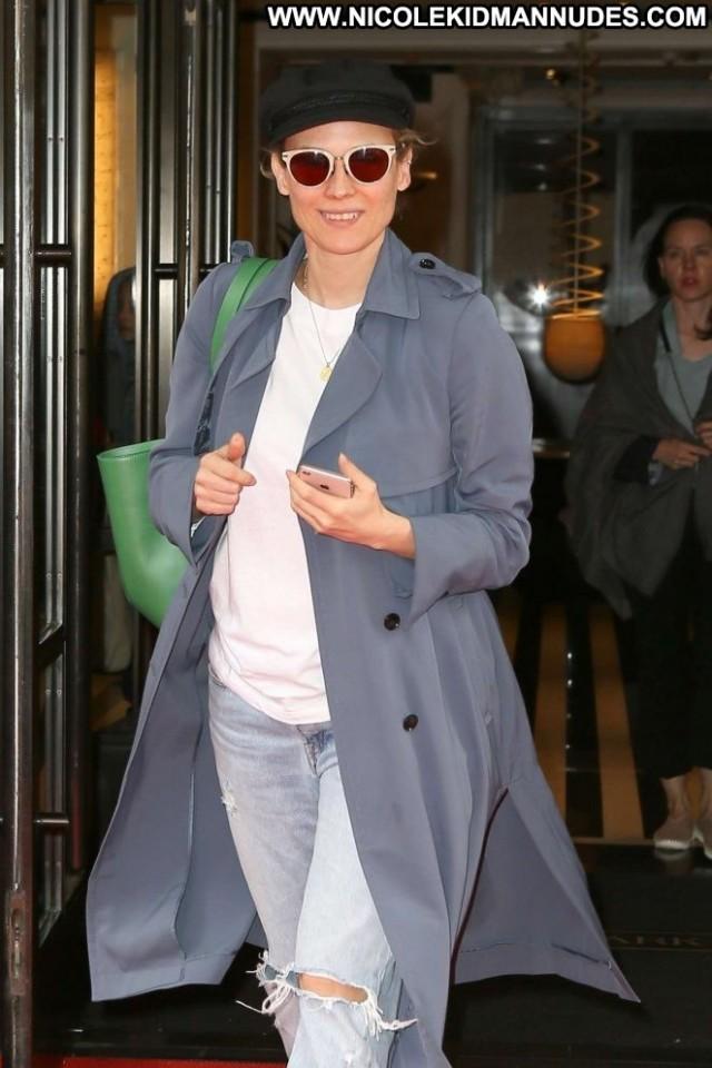 Diane Kruger New York Celebrity New York Babe Posing Hot Paparazzi