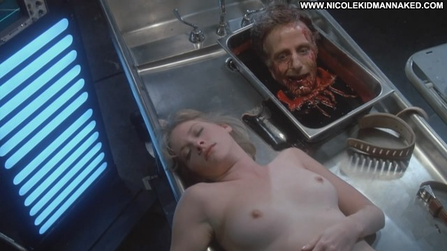 Barbara Crampton Nude Sexy Scene Re Animator Horror Breasts