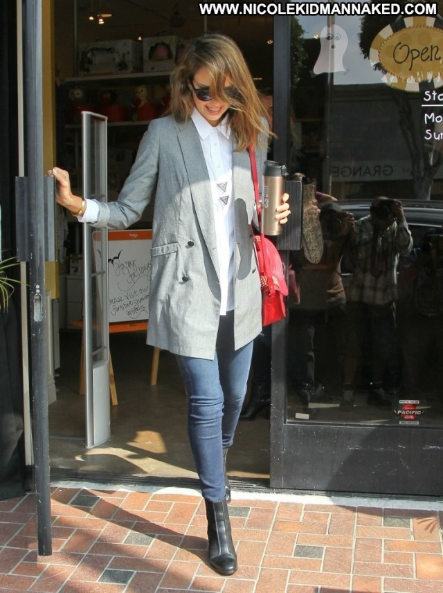Jessica Alba West Hollywood Posing Hot Beautiful Office Hollywood