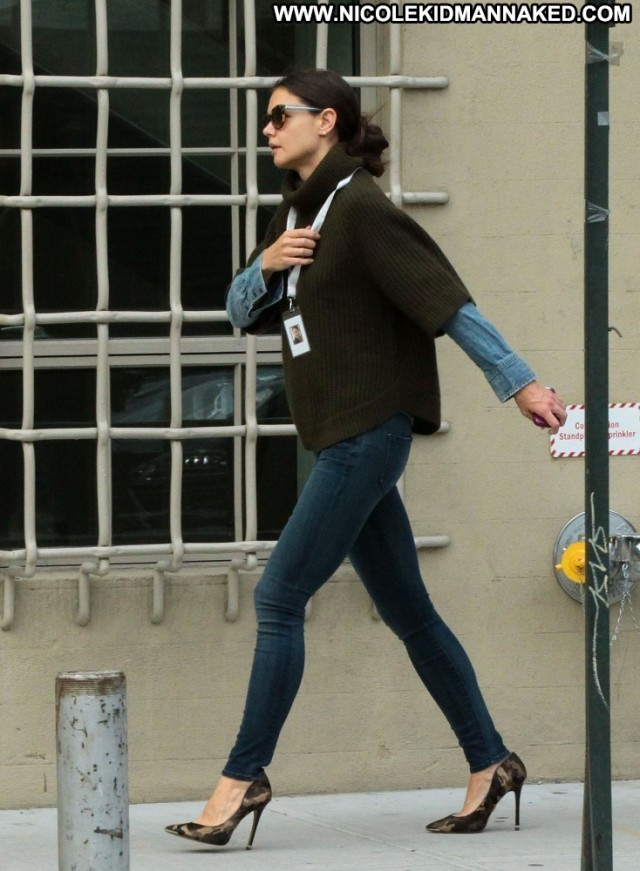 Katie Holmes Babe Celebrity Posing Hot Nyc High Resolution Beautiful