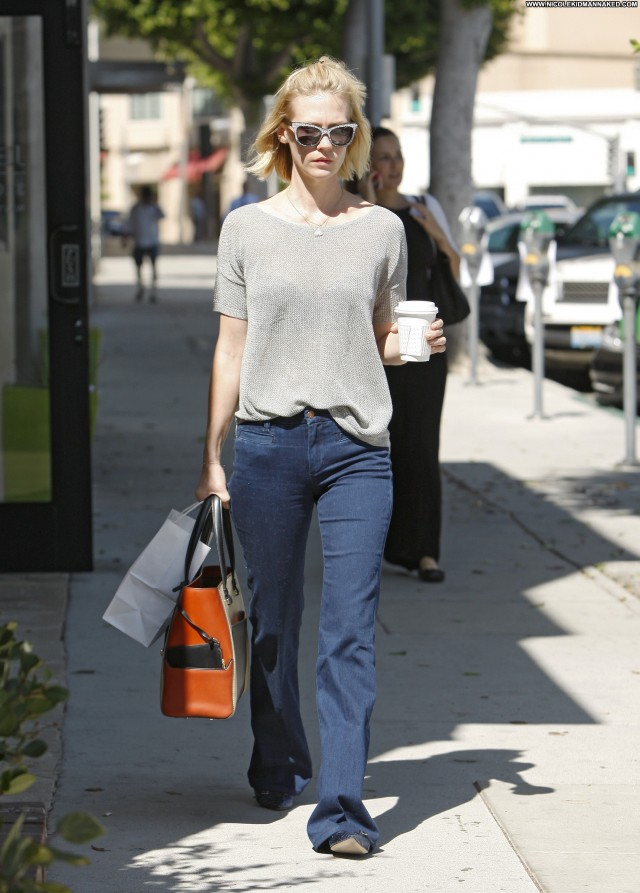 January Jones Beverly Hills Beautiful Posing Hot Shopping Babe High