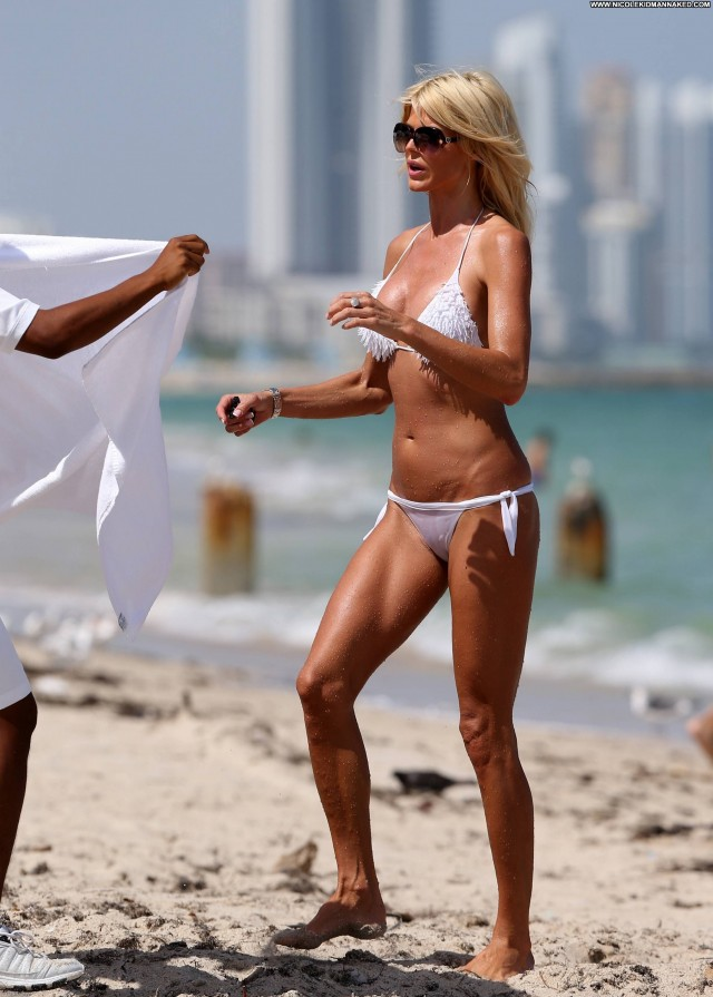 Victoria Silvstedt Miami Beach Bikini Babe Celebrity Beach Beautiful