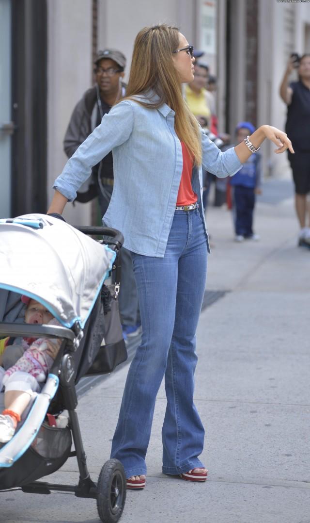 Jessica Alba New York  Beautiful Babe Candids Posing Hot High