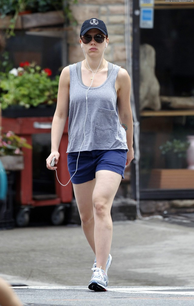 Scarlett Johansson New York Babe Beautiful Gym New York Celebrity