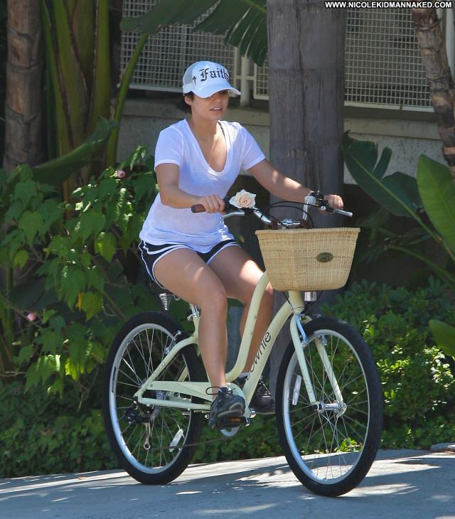 Vanessa Hudgens Studio City Bike High Resolution Posing Hot Sister