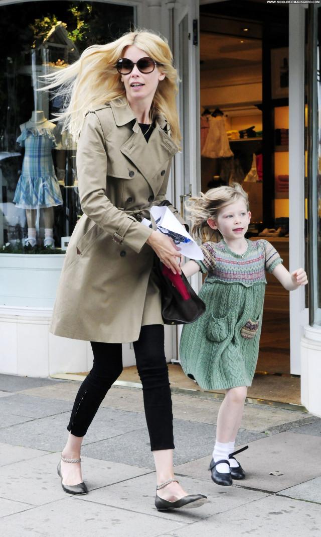 Claudia Schiffer Shopping Beautiful Posing Hot Celebrity Shopping