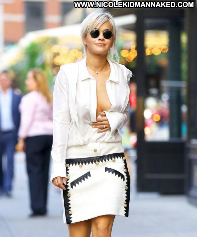 Rita Ora New York Babe Sideboob New York Beautiful Posing Hot Uk